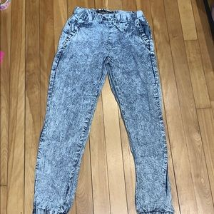 Vanilla Star Girls Acid Wash Joggers